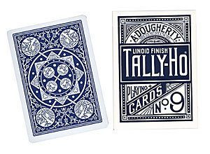 Cartas Tally Ho – Tally Ho Fan, Azul